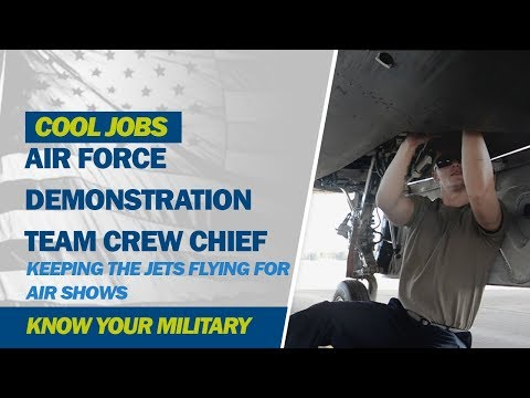 Air Force Demonstration Team Crew Chief