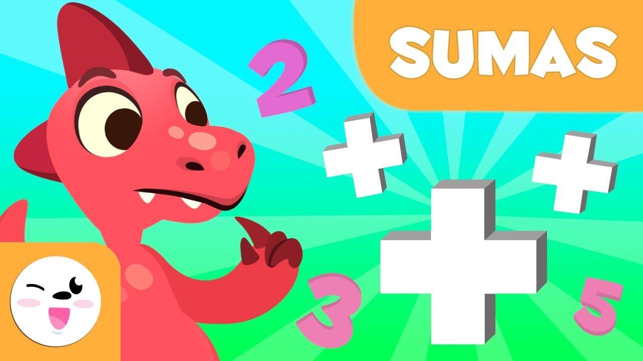 Sumes infantil - Aprèn a sumar amb Dinosaures - Matemàtiques ...