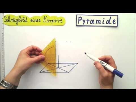 Schrägbilder zeichnen Anleitung Pyramide
