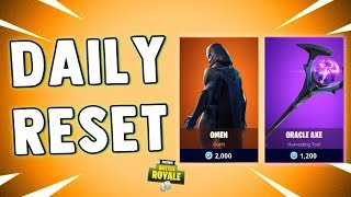 THE OMEN SKIN RETURNS - Fortnite Daily Reset & New Items in Item Shop