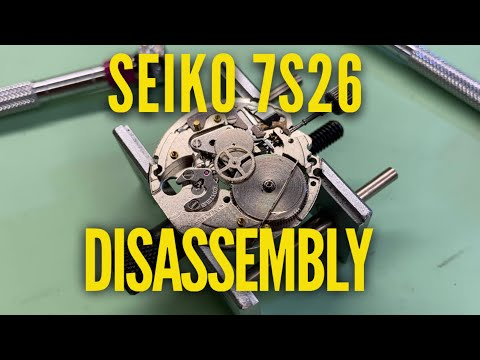Seiko 7S26 Watch Service. Movement Disassembly Tutorial (SKX)