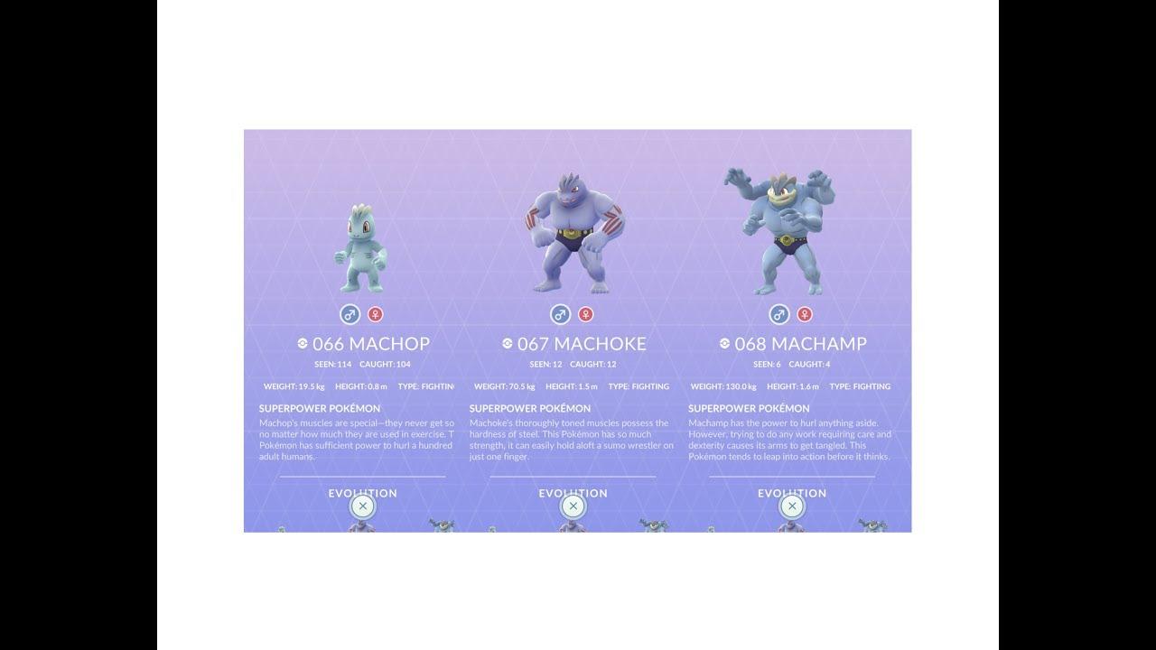 Pokemon Go Evolution: Machop to Machoke to Machamp