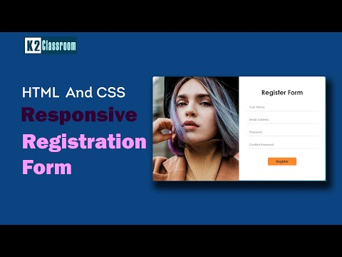 Responsive Registration Form In HTML And  CSS | Create Registration From In HTML & CSS Step By Step