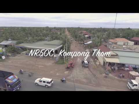 SkyViewofCambodia National Road 50C from Kompong Chhnang to Kompong Thom (long version)