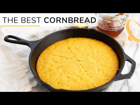 the-best-cornbread-|-easy,-healthy-skillet-recipe