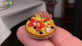 DIY Miniature Fruit tart ミニチュアフルーツタルト作り Fake food