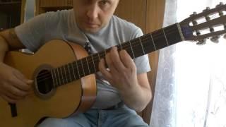 Уроки гитары.Красивая мелодия перебором