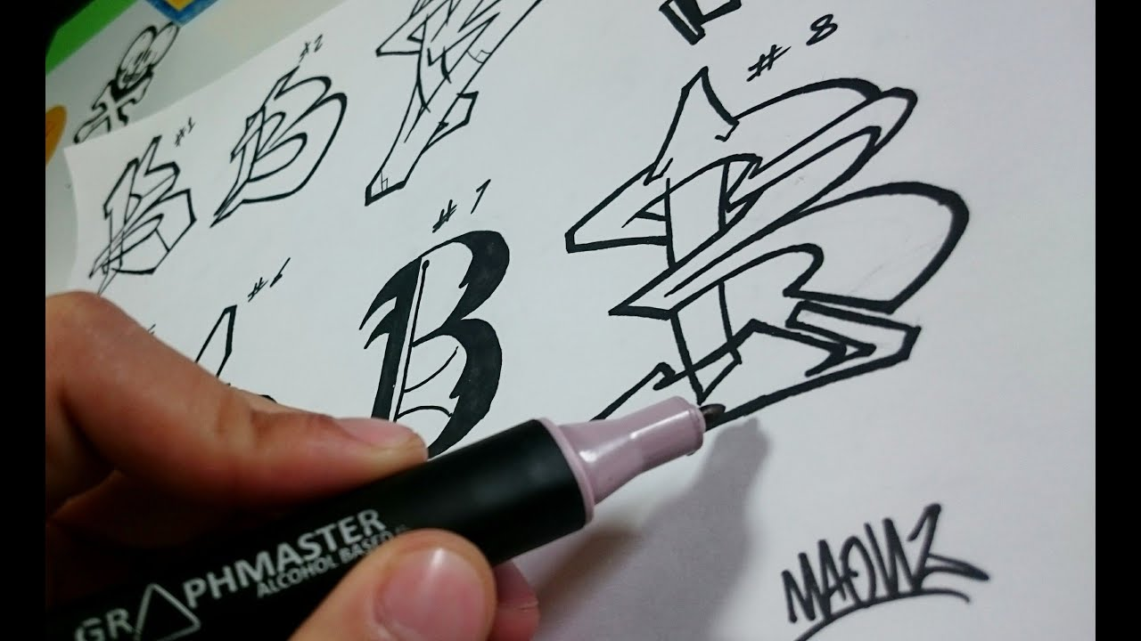 Graffiti Alphabet Practicando La Letra B