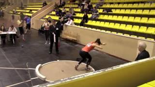 видео: 5-борье. Толкание ядра. Чемпионат и первенства по многоборью (06.01.2013).