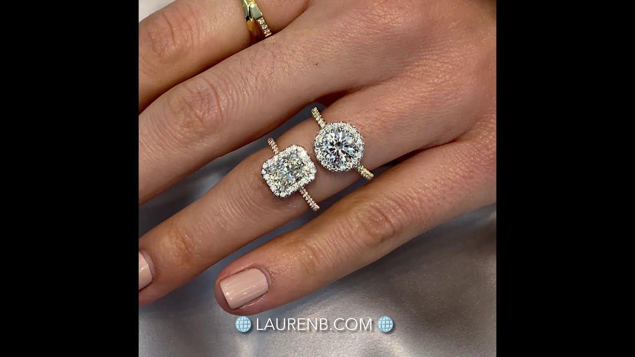 Radiant VS Round Cut Diamond Ring: 1.30 carats