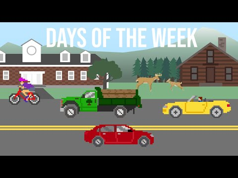 Days of the Week with Vehicles - The Kids' Picture Show