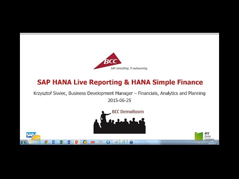 SAP HANA Live Reporting & HANA Simple Finance (in English)