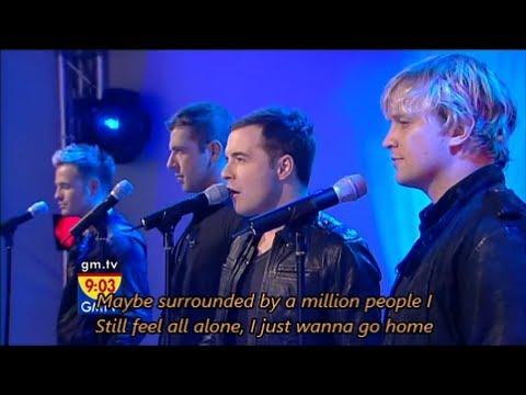 Westlife - Home with Lyrics (GMTV)