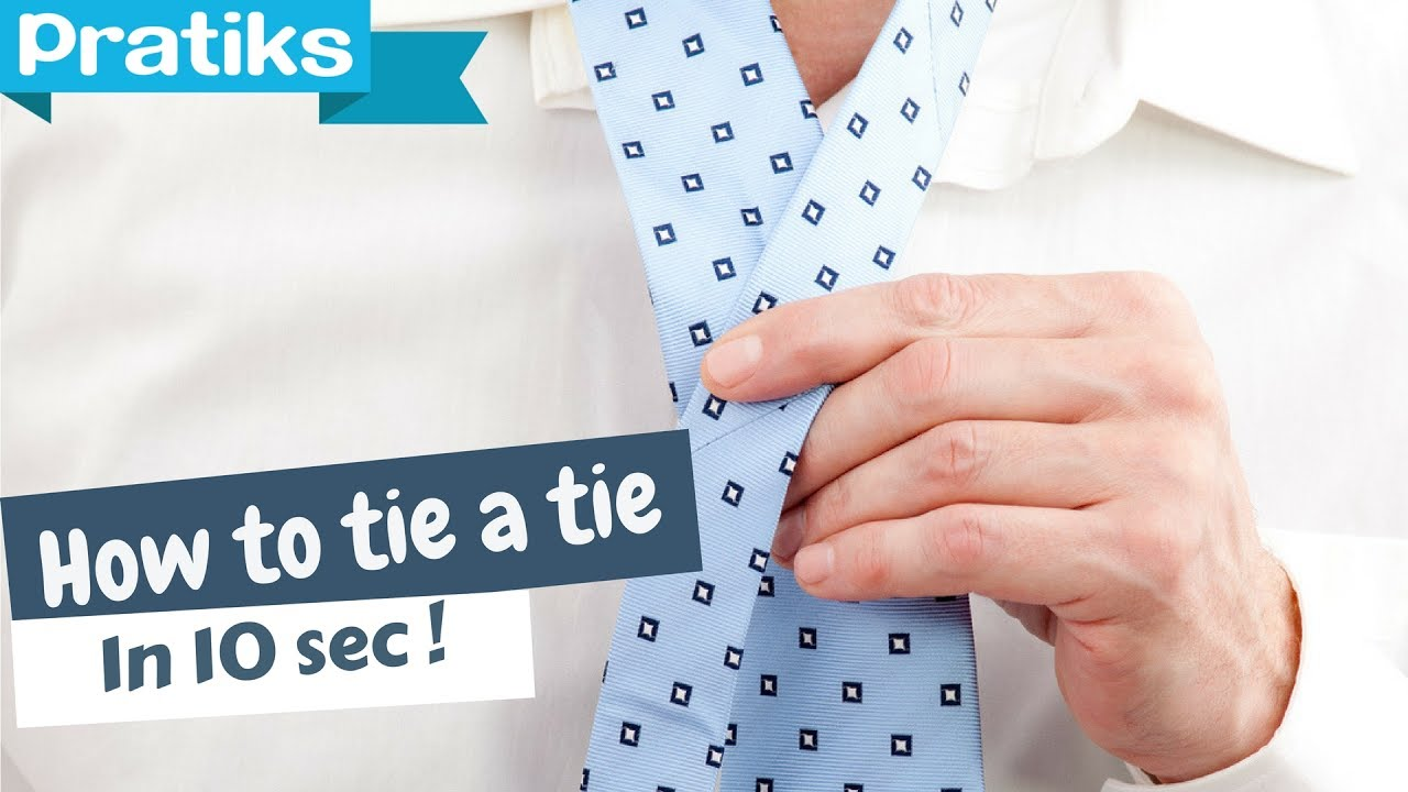 Tips how to tie a tie in 10 seconds youtube tips how to tie a tie in 10 seconds ccuart Image collections