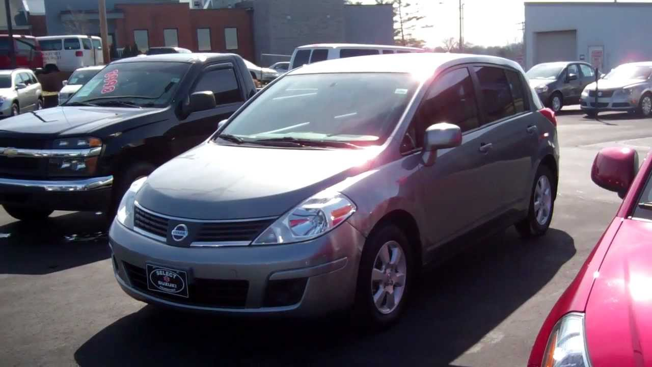 Elegant 2007 Nissan Versa SL 1.8 HB! Local Trade In. Nice Car! 30 36 Mpg.