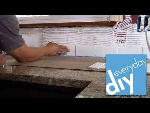 How to install a tile backsplash part 1 buildipedia - How to replace backsplash ...