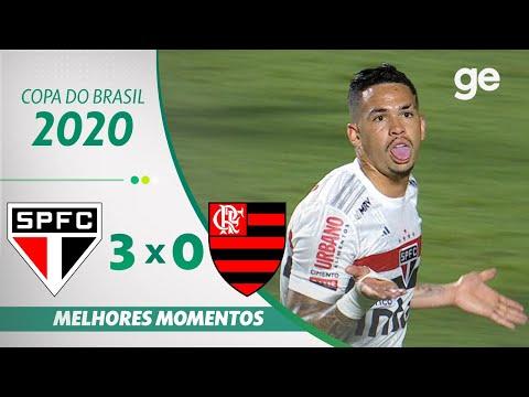 SÃO PAULO 3 X 0 FLAMENGO | MELHORES MOMENTOS | QUARTAS DE FINAL DA COPA DO BRASIL 2020 | ge.globo