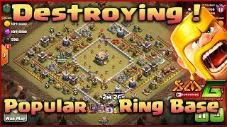 Clash of Clans💝 👉GUIDE TO SKILL DESTROYING 3-STAR TH11 RING BASE IN WAR⭐STYLE GROUND AND AIR !