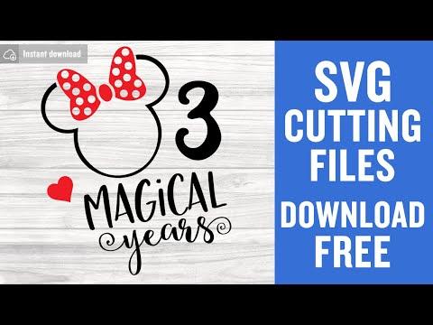 3rd Birthday Svg Free Disney Svg Birthday Svg Third Birthday
