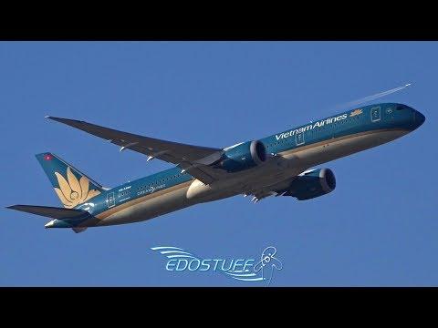 Vietnam Airlines Boeing 787-9 Dreamliner 07C Takeoff - Frankfurt am Main EDDF/FRA