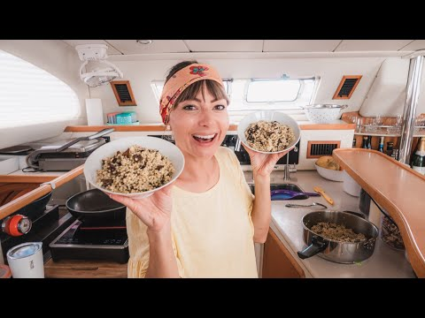 What We Eat...When There's NO FRESH FOOD || Sailing Tuamotus & Cooking at Sea