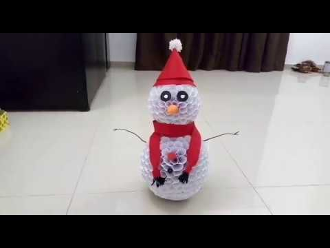 DIY Snowman from paper