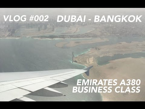 Emirates A380 Business Class Dubai to Bangkok - Let's go Fur
