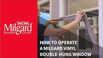 How to Operate a Milgard® Vinyl Double-Hung Window