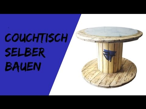 couchtisch selber bauen aus kabeltrommel shabbi chic youtube. Black Bedroom Furniture Sets. Home Design Ideas