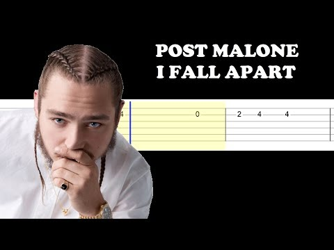 Post Malone - I Fall Apart(Easy Guitar Tabs Tutorial)