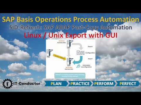 Video 1/5: SID-Refresh (SAP ABAP PCA) - Linux/Unix Export
