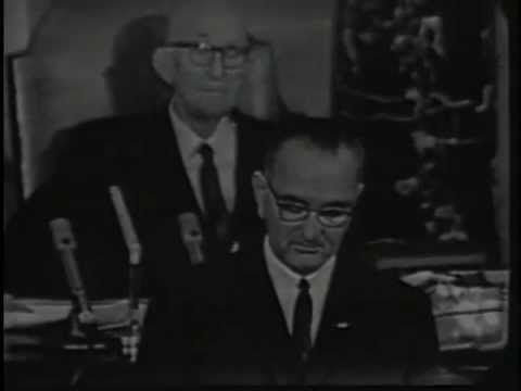Lyndon B Johnson (LBJ) Declares War on Poverty