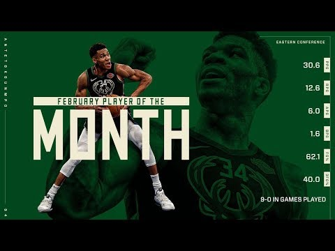 Bucks - Giannis Antetokounmpo Named NBA Eastern Conference Player of the Month