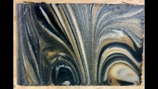 Spiraled Drop Swirl Soap -- Frankincense and Myrrh Scented
