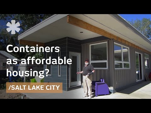 Shipping containers recycled into affordable accessible utah home viyoutube - Shipping container homes utah ...