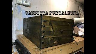 Cassetta portalegna per camino