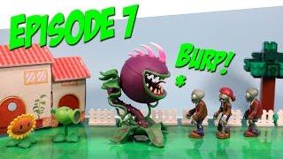 Plants vs. Zombies Toy Play Episode 7 Chomper Plants Appetite