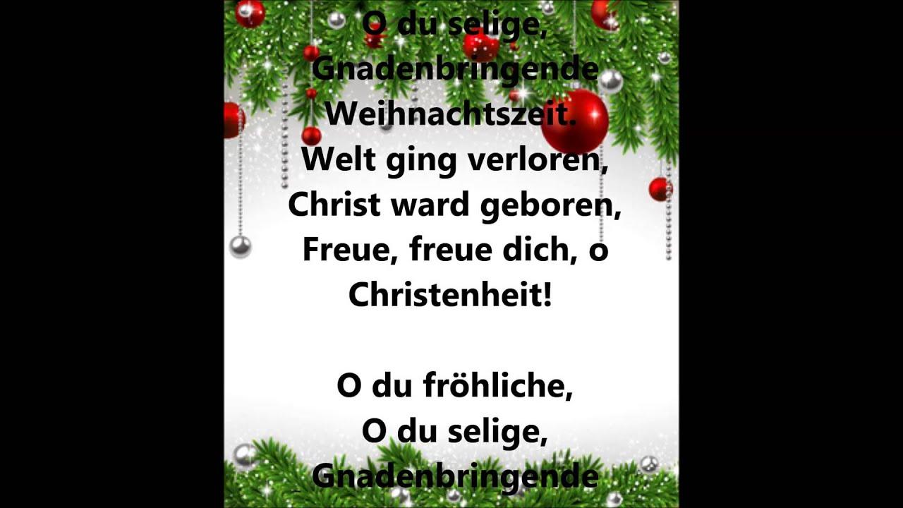 Weihnachtslieder Deutsch Youtube