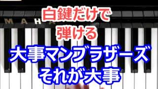右手だけでサビ部分を弾きました。右手ピアノです。 白鍵バージョンとゆっくりバージョンと原曲キーバージョンがあります。 (もともとスローテンポな曲はゆっくりバージョンは ...