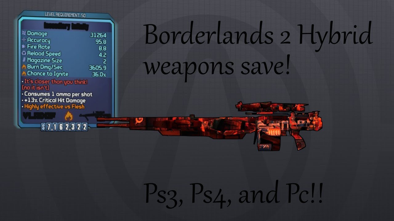 Borderlands 2 Modded Weapons That Pass Sanity Check 2019