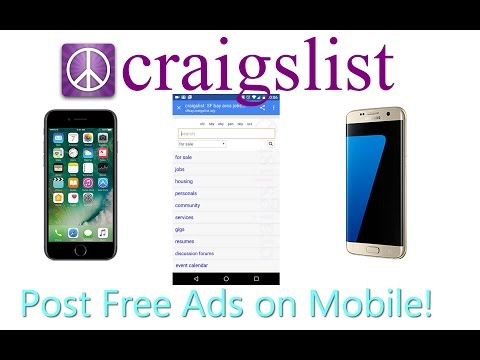 How to Post Ads On Craigslist With Your Phone (Mobile) - YouTube