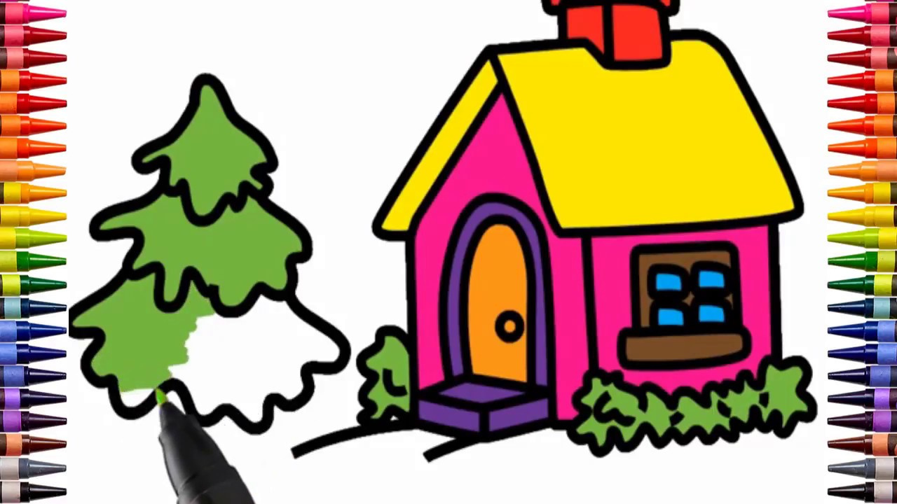 drawing and coloring beautiful house best draw and colours for kids rh youtube com