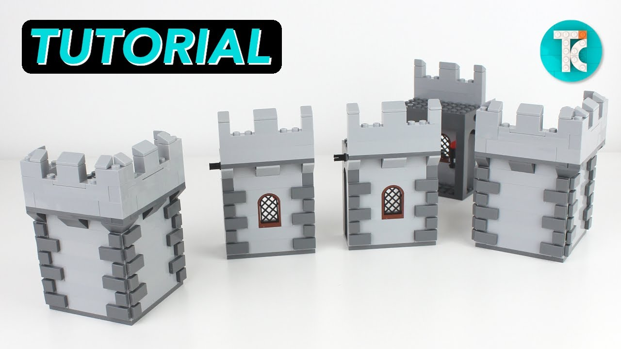 LEGO Castle Wall Corner (PART 2 Tutorial)
