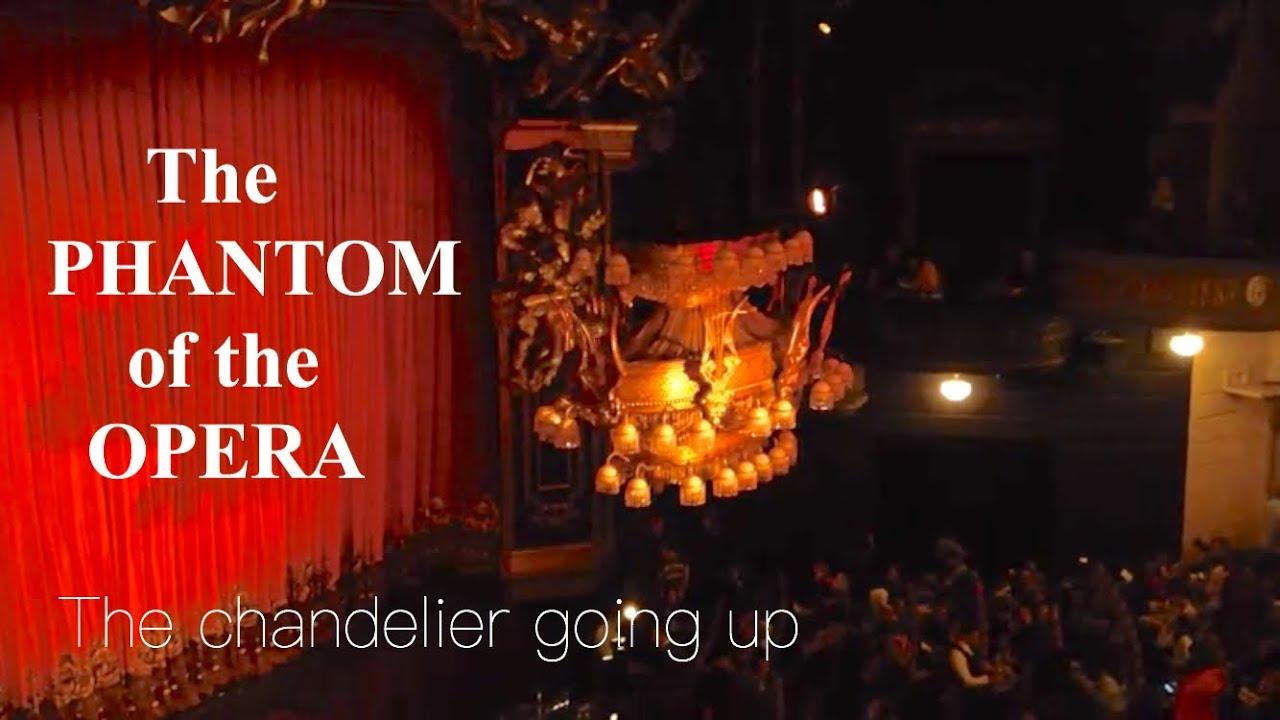 The Phantom Of Opera Chandelier Going Up Broadway