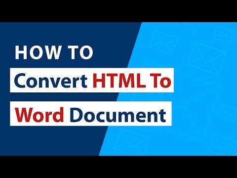 How To Convert HTML To Word Document (DOC) In Bulk ?