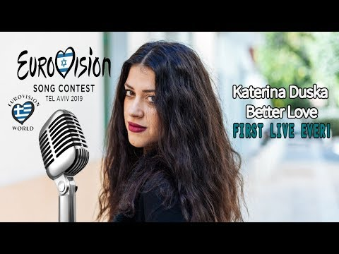 EUROVISION 2019 - KATERINE DUSKA - BETTER LOVE - 1ST LIVE EVER!