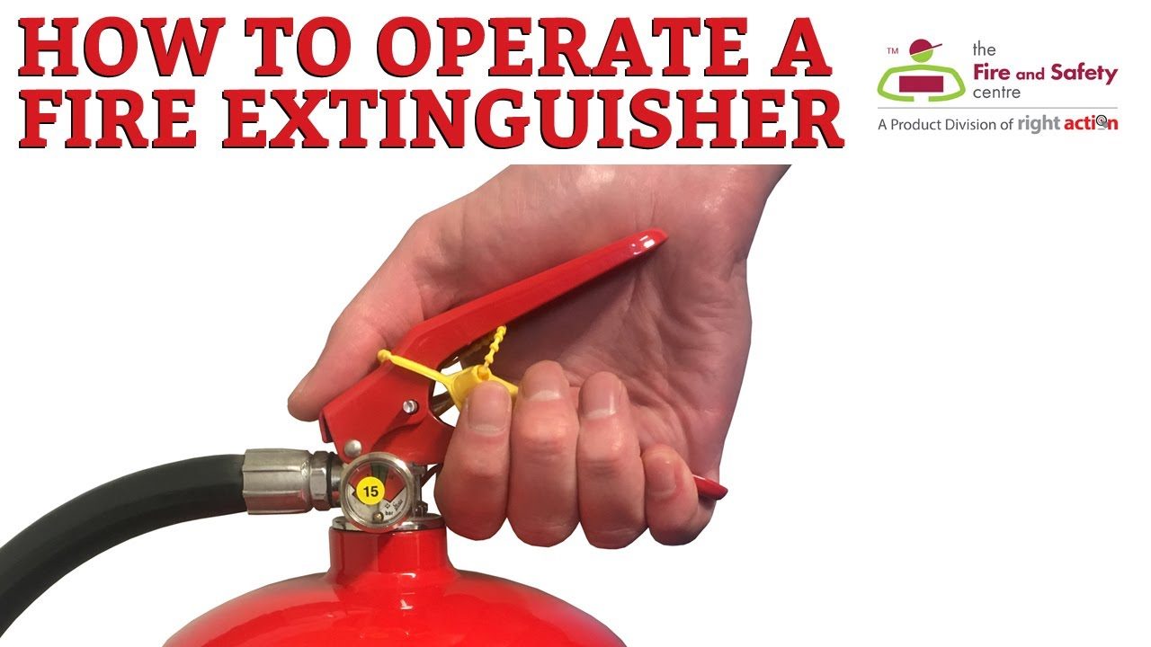 how a fire extinguisher works and how to operate a fire extinguisher youtube. Black Bedroom Furniture Sets. Home Design Ideas