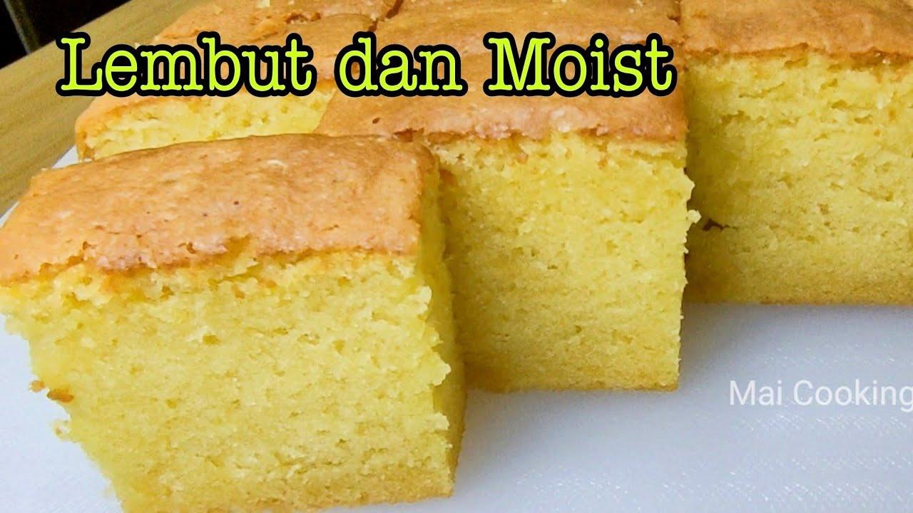 KEK MENTEGA yang LEMBUT DAN MOIST | Butter Cake | Kek Butter Lembut, Gebu, Moist