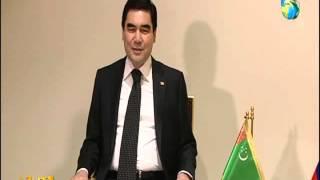 Двухсторонняя встреча президентов Туркменистана и России в Иране. 23.11.2015