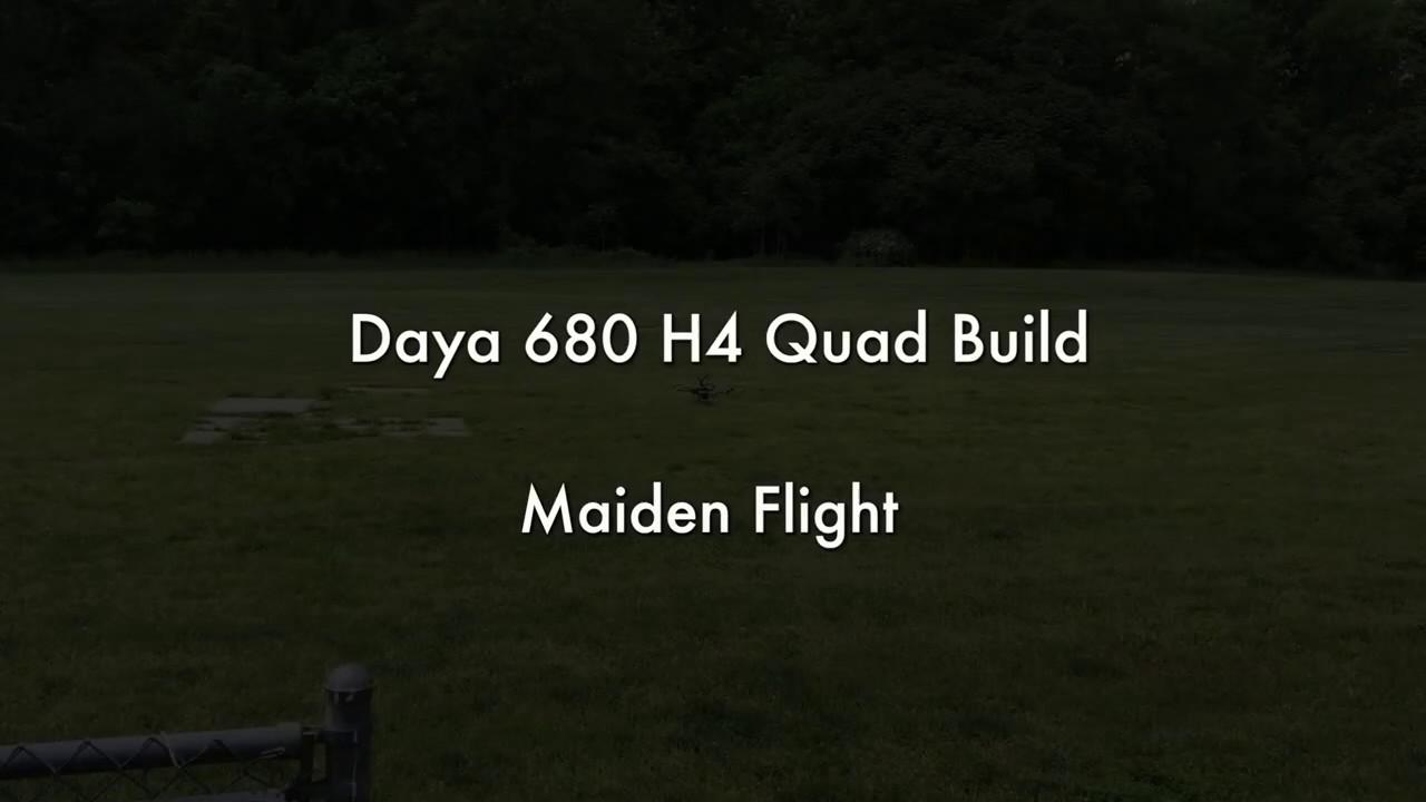 Daya 680 Quad with Pixhawk4
